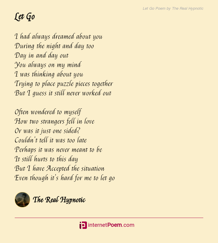 Poem go to let Read This