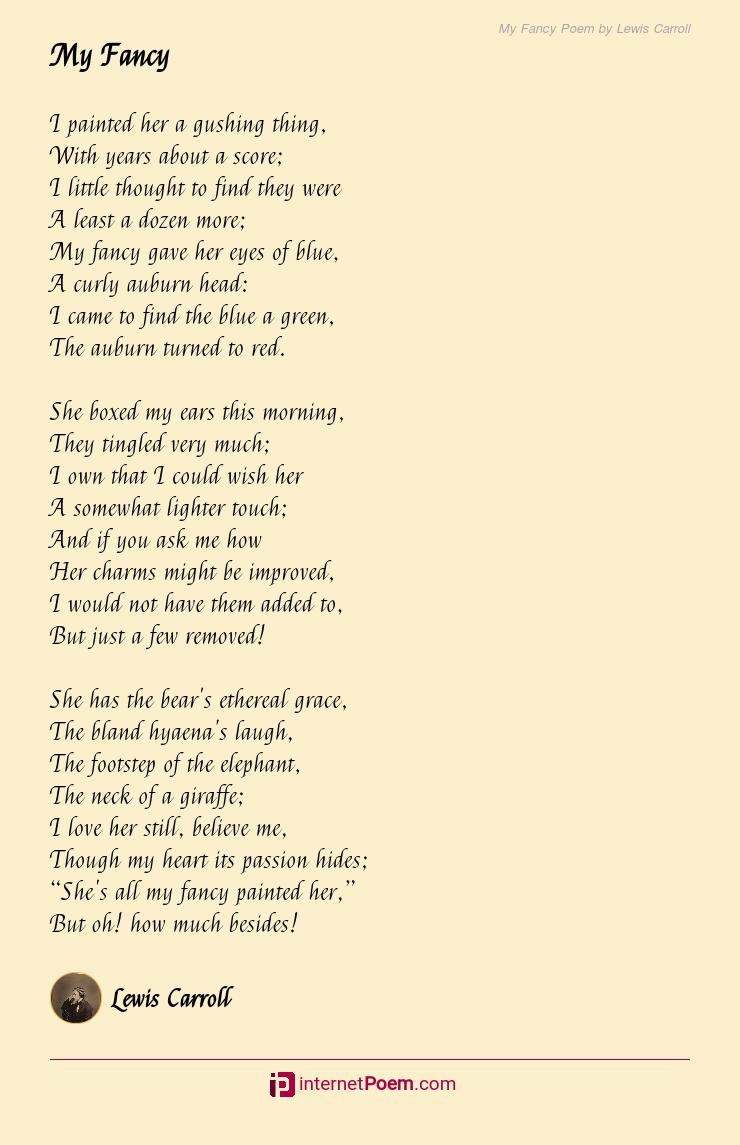 My Fancy Poem By Lewis Carroll
