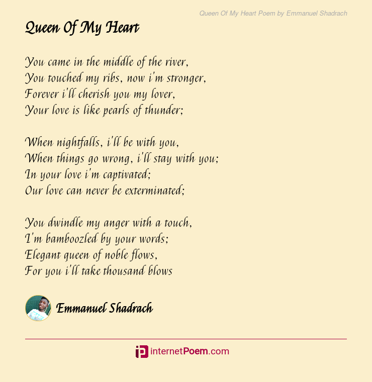 In my heart poem you with 20 Love