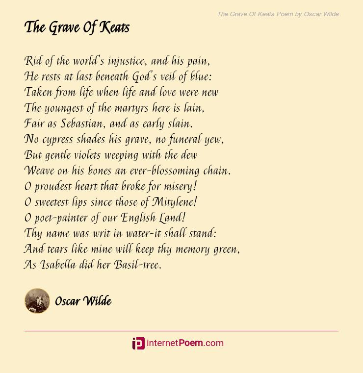 The Grave Of Keats Poem By Oscar Wilde