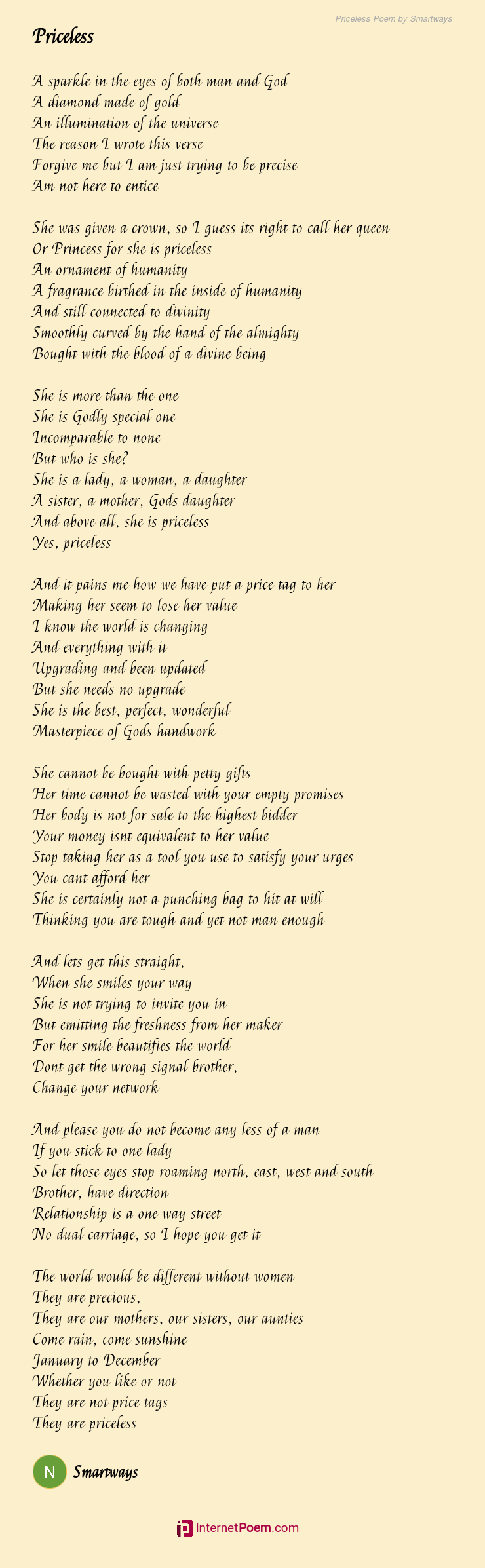 Your everything to me poems for her