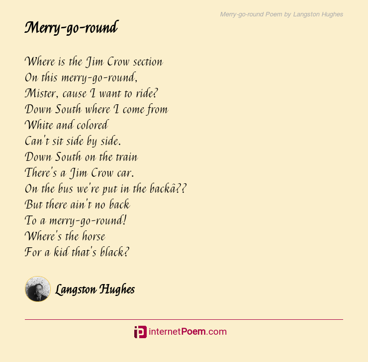 Merry Go Round Poem By Langston Hughes