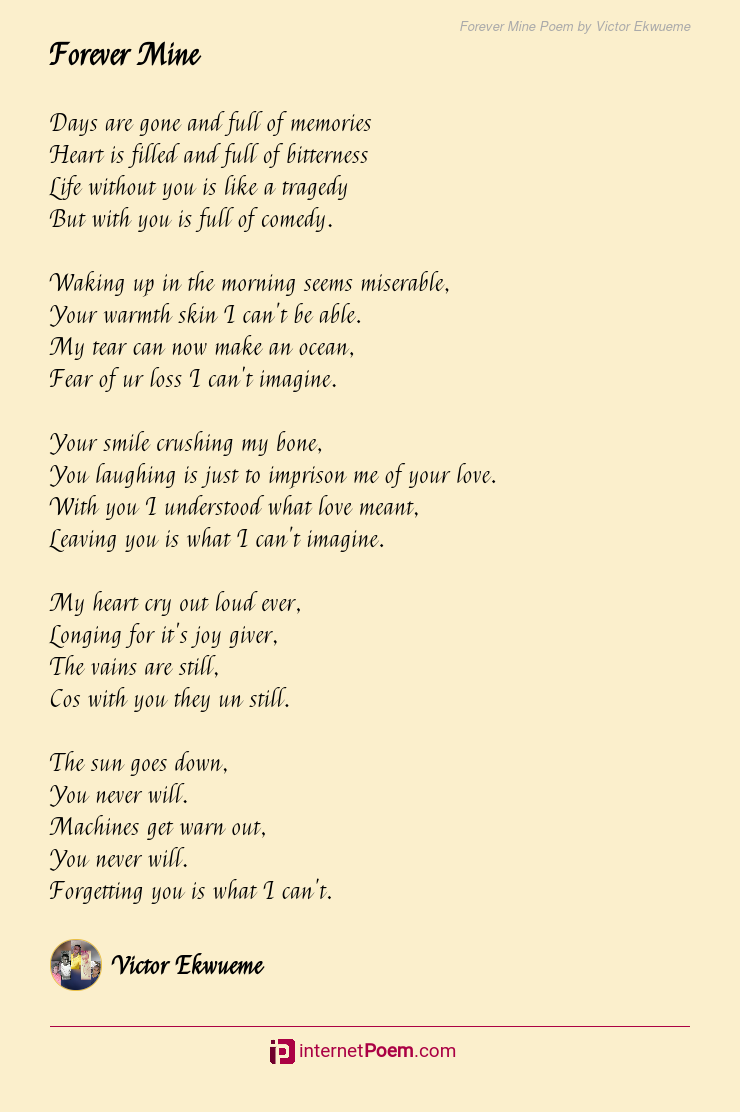 Forever poems mine your 50+ Sweet