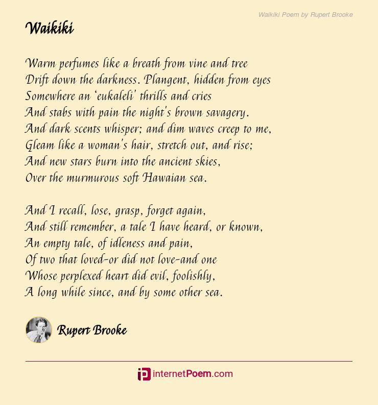 Waikiki Poem By Rupert Brooke