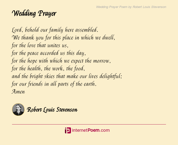 Wedding Prayer Poem By Robert Louis