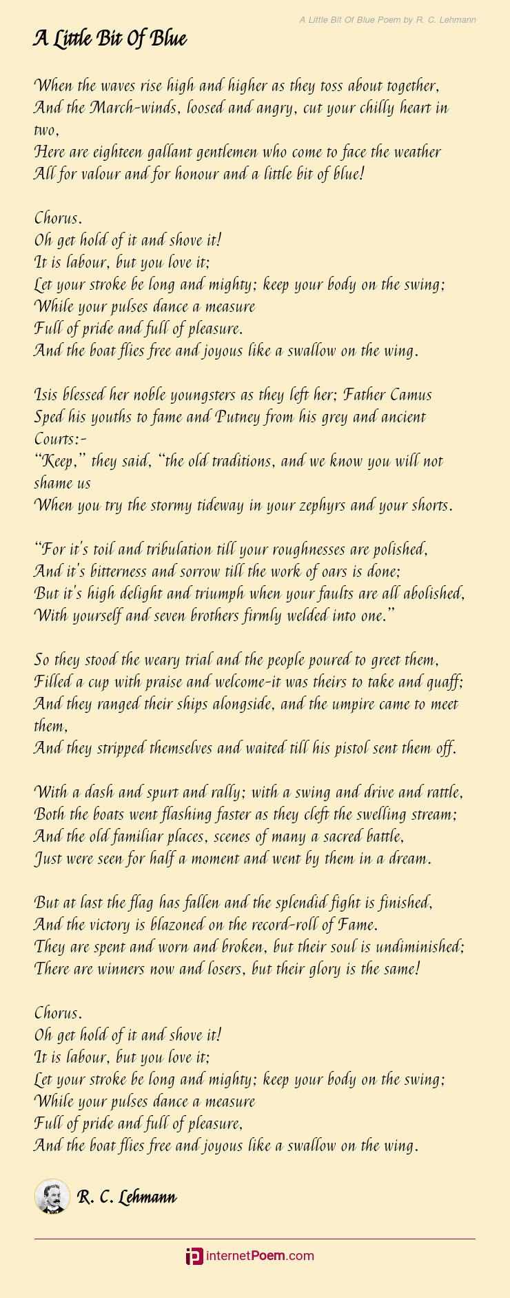 A Little Bit Of Blue Poem By