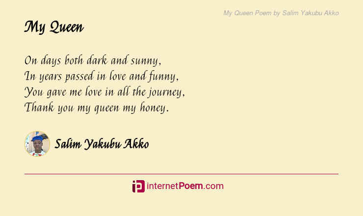 Queen poem are my you I Think