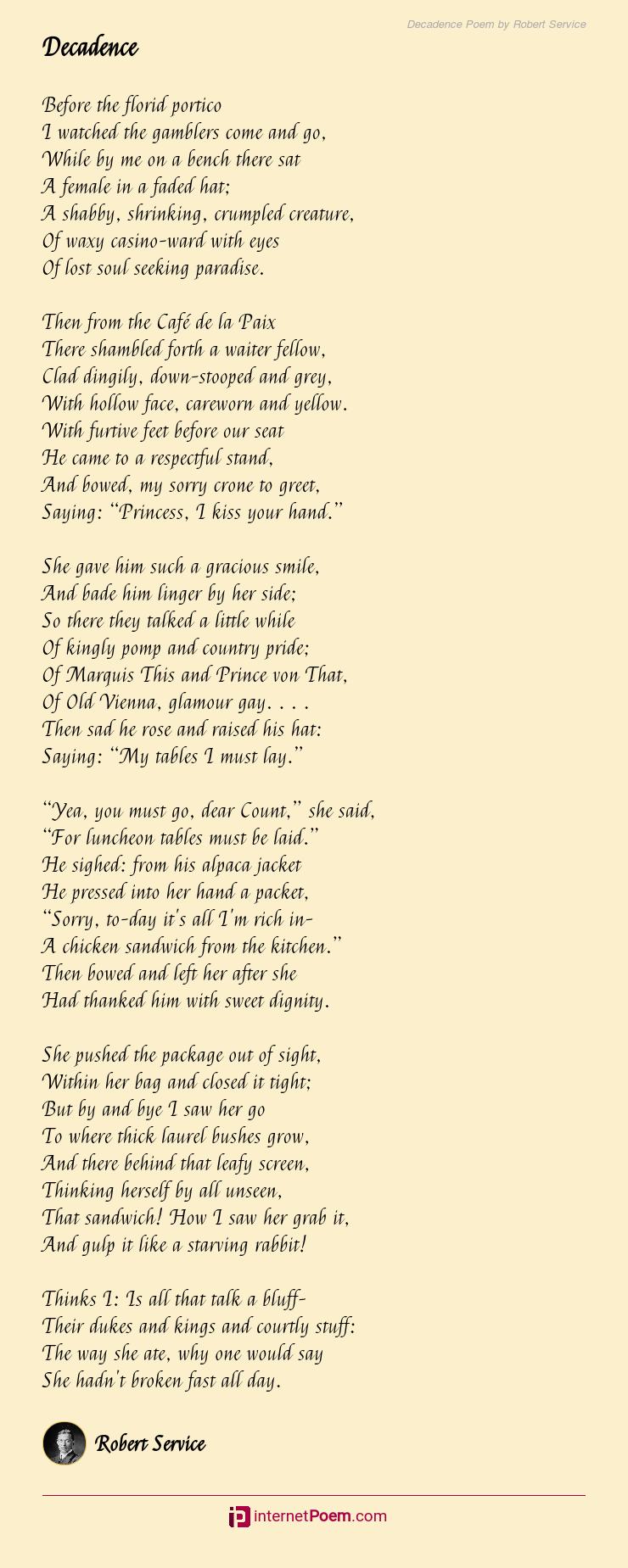 casino poems