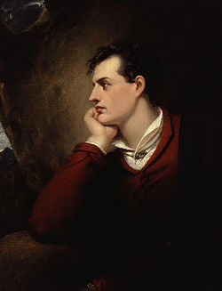Poet George Gordon Lord Byron